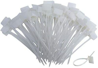 £8.41 • Buy Huouo 200 Pcs 4  Nylon Cable Ties Self-Locking Cord Tags Marker Label Write On