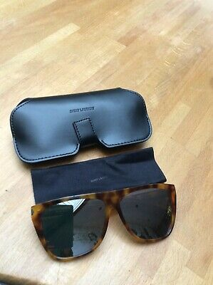 Saint Laurent Mirrored Tortoiseshell Sunglasses RRP £290 Brand New With Case • 48£