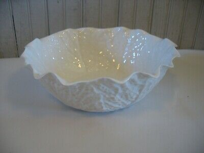 £56.08 • Buy Vtg SPODE Savoy Cabbage Leaf 10  Round Vegetable Serving Bowl WHITE 1961-1975