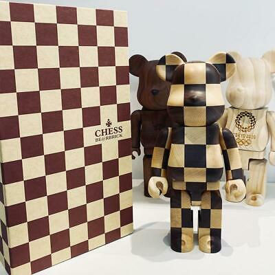 $750 • Buy Be@rbrick RARE Medicom Bearbrick Chess Lattice Wooden Chessboard 400% 28CM