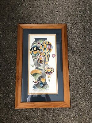 Moorcroft Framed WATERCOLOUR Painted By Jeanne McDougall 1998 • 450£