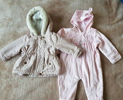 Baby Girls Coat And Snowsuit Size 0-3 Months Disney Bambi • 8£