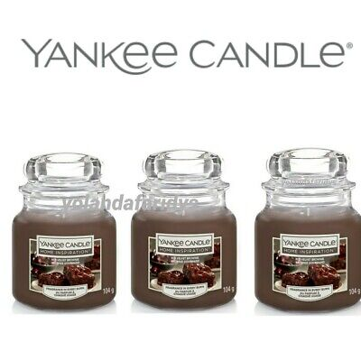 3 X YANKEE CANDLE HOME INSPIRATION RED VELVET BROWNIE SMALL JAR CANDLES 104g • 21.95£