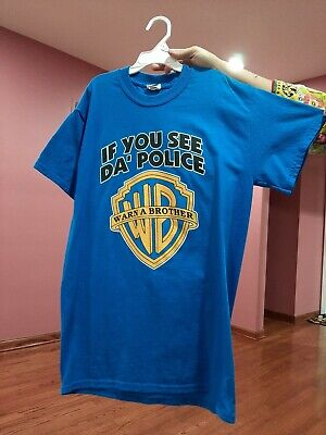 If You See Da Police Warn A Brother T-Shirt Funny Parody Tee Shirt Cops Swag • 10.73£