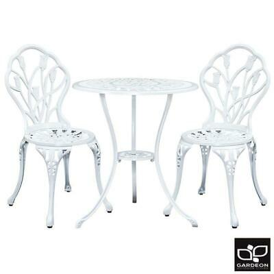 AU234.13 • Buy Gardeon Outdoor Setting 3 Piece Bistro Chairs Table Set Cast Aluminum Patio