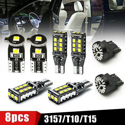 $ CDN8.90 • Buy 8x Car Accessories LED Lights For T10 License Reverse Clearance Brake Lamp Bulb