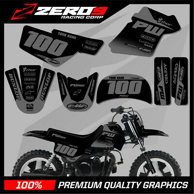 $ CDN76.64 • Buy Yamaha Pw 50 Graphics Kit Peewee 50 Graphics Mini Bike Graphics Block Blk/gry