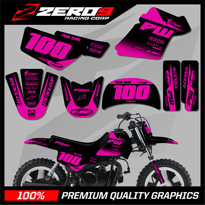 $ CDN76.64 • Buy Yamaha Pw 50 Graphics Kit Peewee 50 Graphics Mini Bike Graphics Block Blk/pink