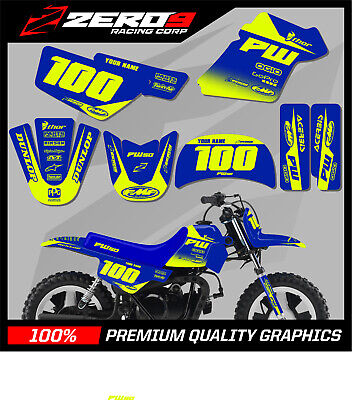 $ CDN76.64 • Buy Yamaha Pw 50 Graphics Kit Peewee 50 Graphics Mini Bike Graphics Block Blu/yel-f