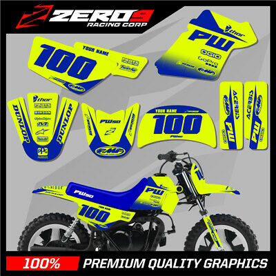 $ CDN76.64 • Buy Yamaha Pw 50 Graphics Kit Peewee 50 Graphics Mini Bike Graphics Block Yel-f/blu