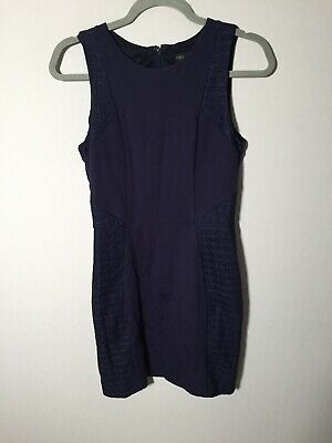 AU22.95 • Buy Forever New Womens Navy Blue Pencil Dress Size 10 Sleeveless Stretchy
