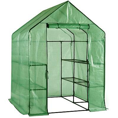 Faboer Walk In Garden Greenhouse With Shelves Polytunnel Steeple Removable Cover • 69.95£