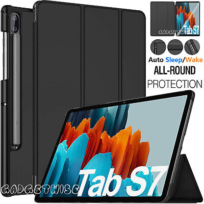 Smart Case Leather Magnetic Tough Cover For Samsung Galaxy Tab S7 11  & S7 Plus • 8.99£