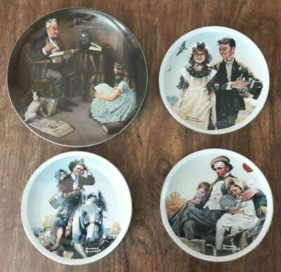 $ CDN116.77 • Buy VINTAGE - Norman Rockwell Four  Variety Collectible Plates – Nice Condition!
