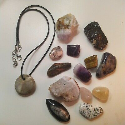 Crystal Bundle Collection Small Tumbelstone Amethyst Citrine 14 Items 171g  • 8£