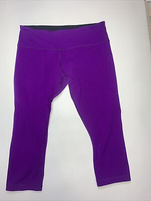"$ CDN24.99 • Buy Lululemon Purple Crop Leggings Size 10 20"" Inseam"