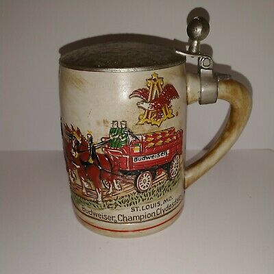 $ CDN65.07 • Buy 1980 Budweiser Lidded Stein Made By Ceramarte With Red Cases Budweiser...