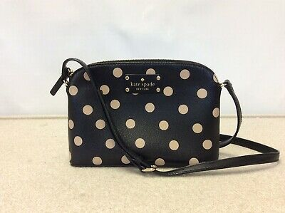 $ CDN45.82 • Buy KATE SPADE Dome Crossbody Purse Black/Pink Polka Dot