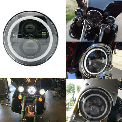 AU45.99 • Buy DOT Motorcycle LED Headlight 7  Inch For Motorcycle Harley Touring Cafe Racer