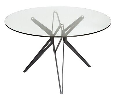 AU479 • Buy Miles Collection | Round Glass Dining Table | 120cm