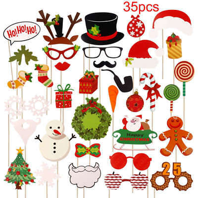 £1.99 • Buy 2020 New Years Eve Party Christmas Photo Booth Props Mustache Stick Selfie Decor