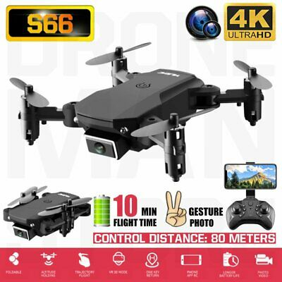 AU42.65 • Buy AU Mini Foldable Drone 4k HD Wide Angle Dual Camera Quadcopter WiFi FPV Drone RC