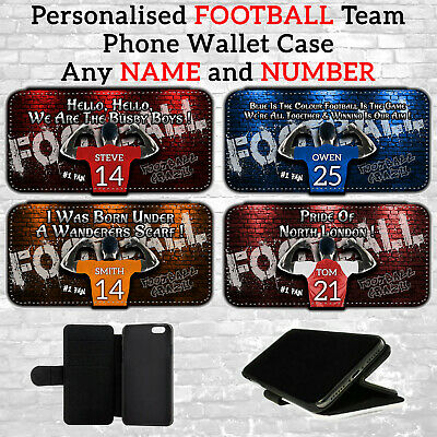 £10.95 • Buy A Personalised Mens FOOTBALL All Teams PHONE WALLET Case For Samsung S20 Plus FE