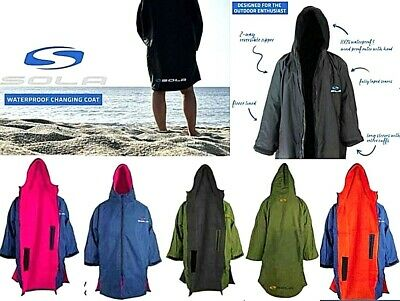 Sola Hooded Waterproof Surf Changing Robe Coat Adult Child Beach Poncho Towel • 85£
