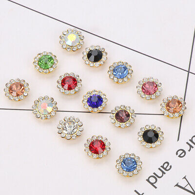 Hat Accessories Buttons Crystal Glass Stone Clothes Decoration Rhinestone • 2.28£