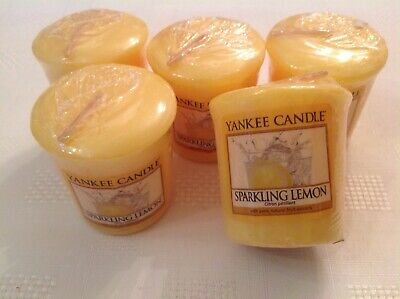 Yankee Candle Votive Samplers X5 Sparkling Lemon, Rare & Hard To Find Now.  • 17£
