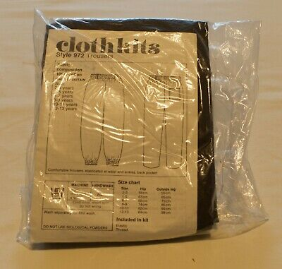 £6.50 • Buy Vintage Clothkits Child's Trousers Kit 972, Dark Brown, Age 8-9 Complete.