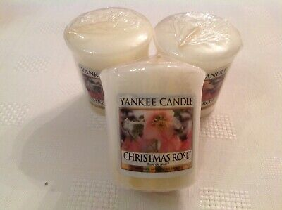 Yankee Candle Votive Samplers X3 Christmas Rose. Rare & Hard To Find. Gorgeous  • 8.50£