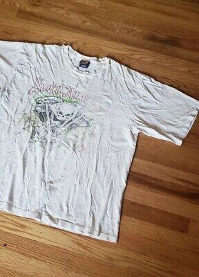 $ CDN9.39 • Buy VTG Thrashed Harley Davidson David Allen Coe Tour Short Sleeve T Shirt Size XL
