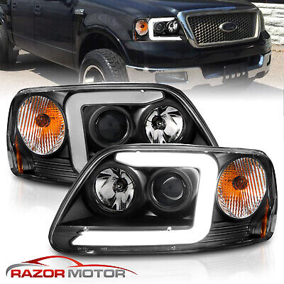 $170.96 • Buy [LED C Light Bar]For 1997-2003 Ford F-150 Halo Ring Projector Black Headlights