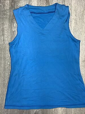 $ CDN18.39 • Buy Lululemon Size 10 Blue Tank Top V-neck Atheltic