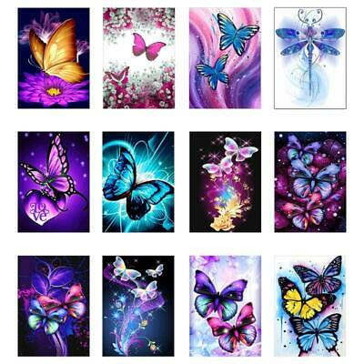 AU7.99 • Buy Butterfly Dragonfly 5D Full Drill Diamond Painting Embroidery Cross Stitch DIY