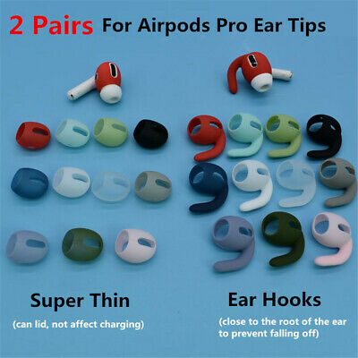AU2.78 • Buy 2 Pairs Colorful Soft Silicone Replacement Earbuds For Airpods Pro Accessories