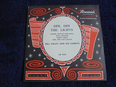 Bill Haley And His Comets - Dim, Dim The Lights 1955 UK EP BRUNSWICK • 7.50£
