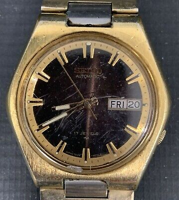 $ CDN1.30 • Buy Vintage Seiko 7009-8079 Gold Filled Automatic Men's Watch