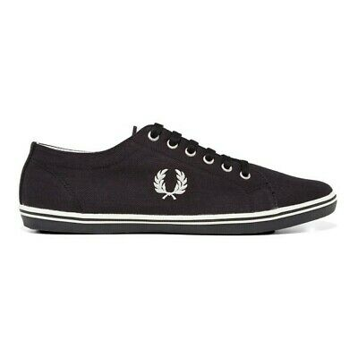 Fred Perry Kingston Twill Plimsolls Trainers Pumps Casual Shoes B6259-311 • 44.99£