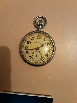 Jaeger-leCoultre WW2 Military GSTP Pocket Watch For Spares Or Repair. • 18.09£