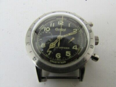 $ CDN674.23 • Buy Vintage Gallet Flying Officer Chronograph Men Watch ( No Working) For Parts Only
