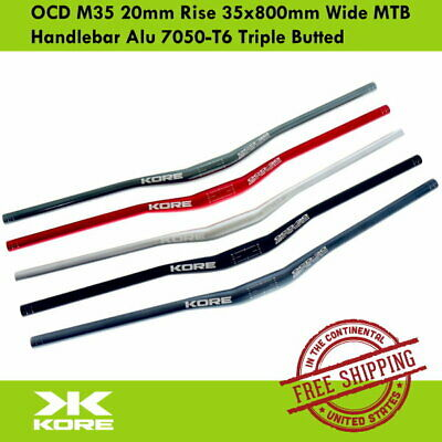 $41.90 • Buy KORE OCD M35 20mm Rise 35x800mm Wide MTB Handlebar Alu 7050-T6 Triple Butted