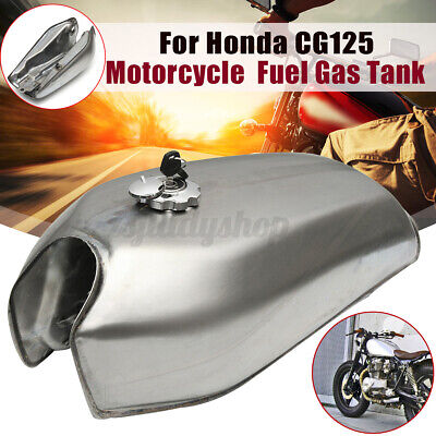 $111.99 • Buy 9L 2.4Gallon Motorcycle Fuel Gas Tank Cover Switch Kit For Honda CG125 Unpainted