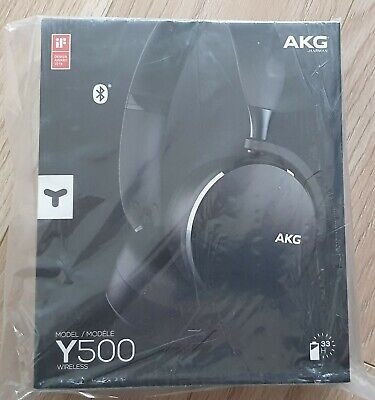 AKG Y500 On The Ear Wireless Headphones - Black **Brand New Sealed** • 45£