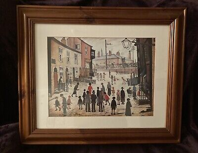 L S Lowry A Procession Framed Glazed Print Medici Society 62cm 50cm Ex Cond • 29.99£