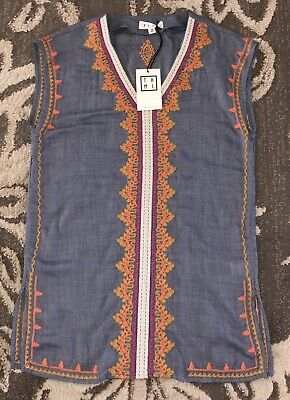 $ CDN4.25 • Buy New Nwt Womens Sz Xs Anthropologie Thml Long Shirt Tunic Embroidered