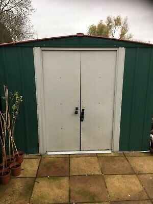 Metal Garden Shed 8x6 Good Condition • 82£