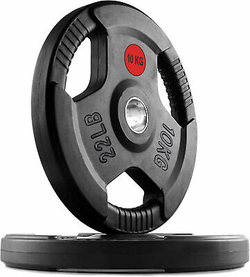 $ CDN132.28 • Buy Rubber Bumper Olympic Weight Plates Home Gym Weights Training 2  Discs Lifting