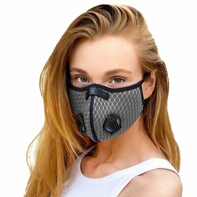 Reusable Washable Anti Pollution Face Mask PM 2.5 Two Air Vent With Filter UK  • 4.99£